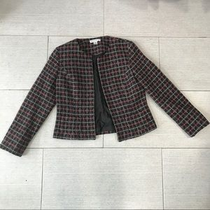 EUC Pendleton Metallic Wool 3/4 Sleeve Open Jkt